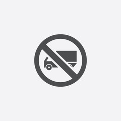 truck forbidden sign icon
