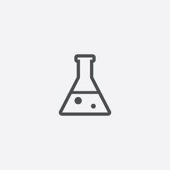 laboratory outline, thin, flat, digital icon
