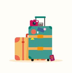 Gepäck Urlaub Vektor