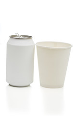 paper cup on the white background