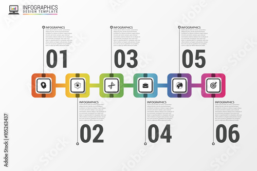 Modern Infographics Process Template Timeline Concept Vector - Process timeline template