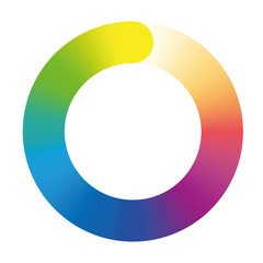 Preloader - rainbow colored gradient ring. Isolated vector illustration on white background.