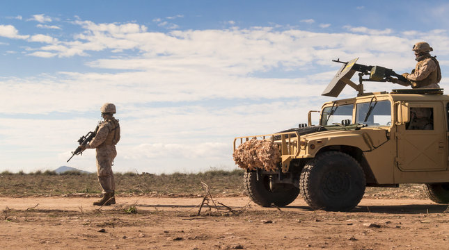 Marine patrol soldiers
