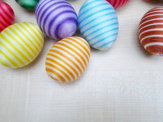 colorful cotton easter eggs
