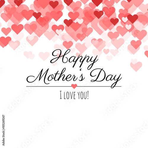 """I Love You Mom Happy Mothers Day Flyer Template Psd Free: """"Happy Mother's Day! I Love You! Happy Mother's Day Card"""