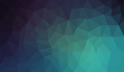 Blue Black Gradient abstract polygon background