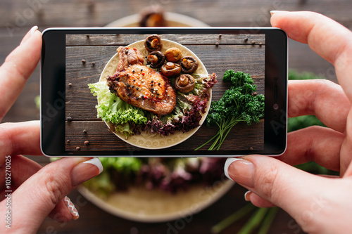 Fototapete pork with vegetables. Food photo for client