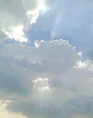 cloudy sky on sunrise