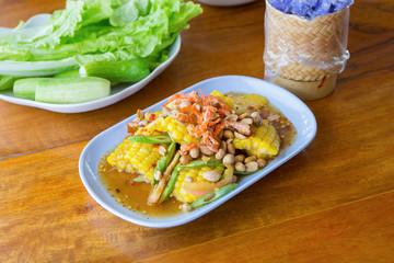 thai food - corn spicy salad