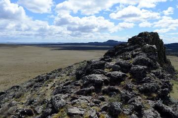 Basalt lava in the national Park Pali Aike.