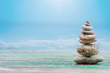 Pyramid of the small pebbles sea