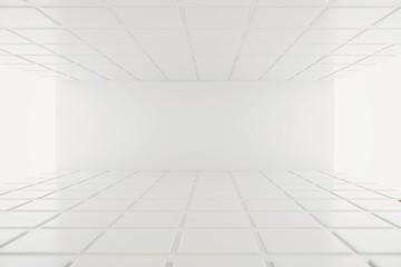 Empty wall in white interior