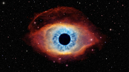 Eye of God in nebula Helix. Pictures was based on photo from official NASA site.