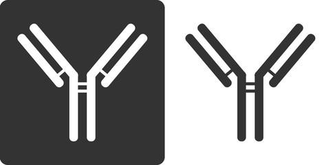IgG1 antibody (immunoglobulin), flat icon style.