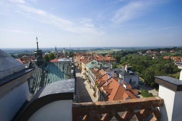 Panoramic view of Sandomierz