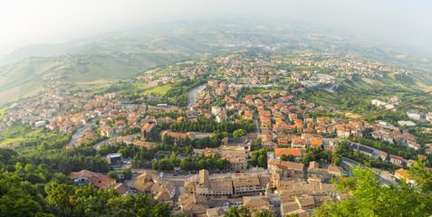aerial view to San Marino