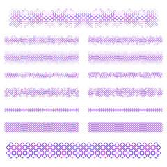 Design elements - purple divider line set