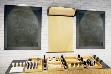 Blank parchment and blackboards