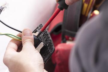 installing a wall power socket