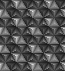 Abstract geometric triangle seamless 3D texture. Vector illustration