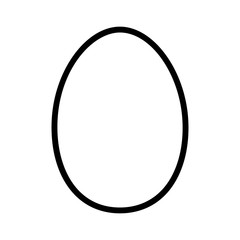 Chicken egg or duck egg line art icon for apps and websites