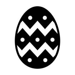 Decorative Easter egg flat icon for apps and websites