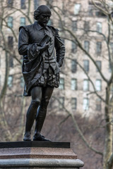 Statue of William Shakespeare in Central Park
