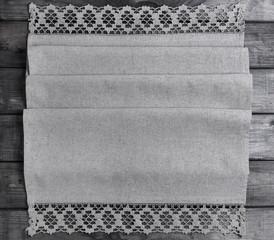 light gray fabric from flax coarse burlap