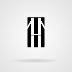 Vector calligraphic monogram. Letters in the minimalist style.
