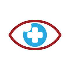 Eyecare Healthy Eye Clinic Logo Icon Template