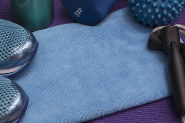 Get Fit Blue and Purple with Copy Space