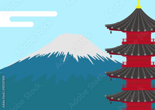 イラスト素材富士山と五重塔 Stock Photo And Royalty Free Images