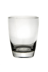 Empty glass for water on white background.