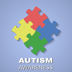 Puzzle autism awareness