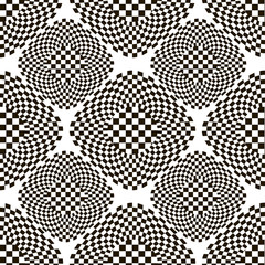 Black and white checkered pattern with rhombs