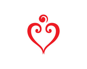 Love and heart logo