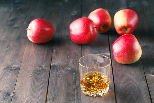 whiskey and apples