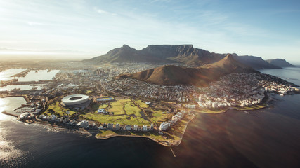 Poster Gray Aerial view of Cape Town, South Africa