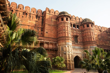 The Agra Fort in Agra