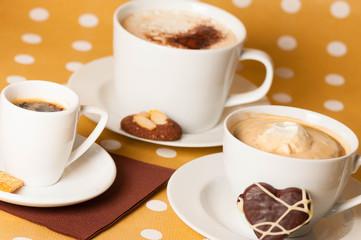 Kaffesorten mit Schokoladenherz