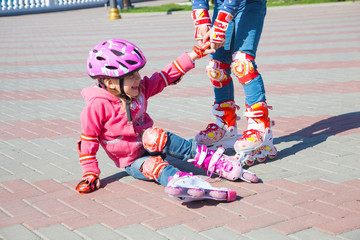 kids on  rollerblades