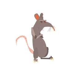 Rat Standing On Two Legs With Arms Crossed Flat
