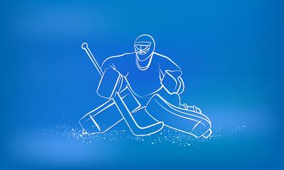 Hockey goalie. Sports background.