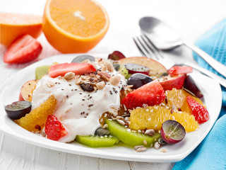 plate of fruit and berries salad