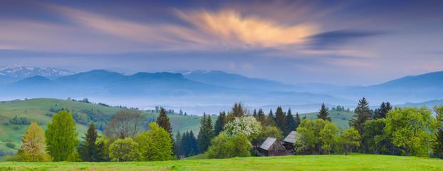 Early Carpathian morning Wall mural