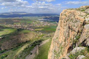 Views of Mount Arbel and rocks