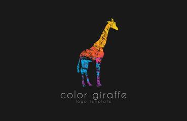 giraffe logo design. africa logo. creative logo. animal logo.