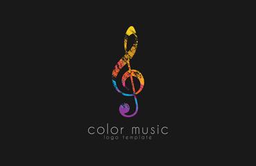 Note logo. Music logo. Creative logo. Color logo.