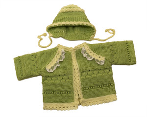 Baby sweater and hat.