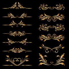 Vector set of borders, decorative elements.